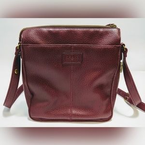 Vintage Relic Crossbody Purse/Bag Burgundy